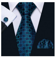 Set cravata + batista + butoni - matase 100% - model 154