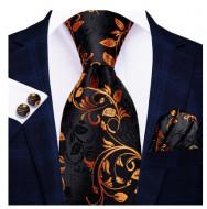 Set cravata + batista + butoni - matase naturala 100% - model 100
