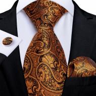 Set cravata + batista + butoni - matase naturala 100% - model 116