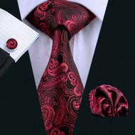 Set cravata + batista + butoni - matase naturala 100% - model 12