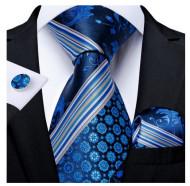 Set cravata + batista + butoni - matase naturala 100% - model 131