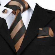 Set cravata + batista + butoni - matase naturala 100% - model 43