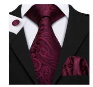 Set cravata + batista + butoni - matase naturala 100% - model 61