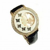 Ceas dama Black & Golden Butterfly