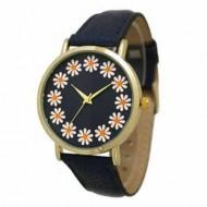 Ceas dama - Each Hour a Flower - negru