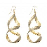 Eleganti cercei aurii cu minicristael argintii