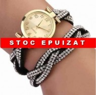 Fancy elegant watch - negru