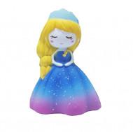 Jucarie Squishy, parfumata, model Delicate Princess in rochita albastra