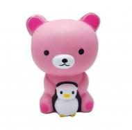 Jucarie Squishy, parfumata, ursulet cu pinguin
