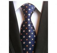 Model 21 - cravata matase naturala 100%, tesatura jaquard + cutie cadou