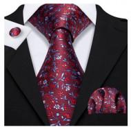 Set cravata + batista + butoni - matase naturala 100% - model 125