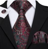 Set cravata + batista + butoni - matase naturala 100% - model 44