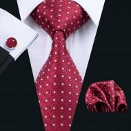 Set cravata + batista + butoni - matase naturala 100% - model 5