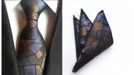 Set cravata + batista - matase naturala 100%, tesatura Jaquard - model 58