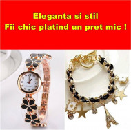 Set elegant (ceas si bratara), cadoul chic perfect