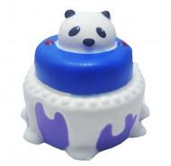 Squishy Jumbo ieftina, parfumata, model tort cu glazura si ursulet panda