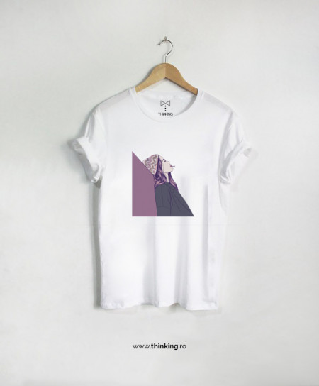 tricou x girl smoking
