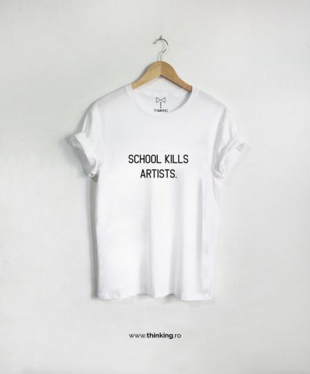 tricou x school kill artists