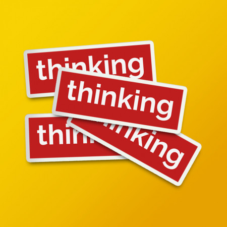 """Pack stickere """"Thinking"""" red"""
