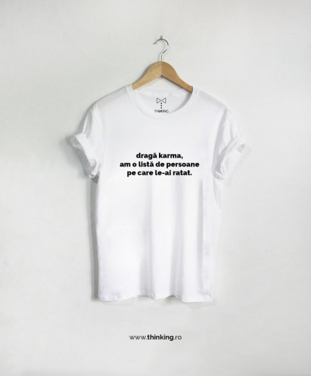 tricou x dragă karma
