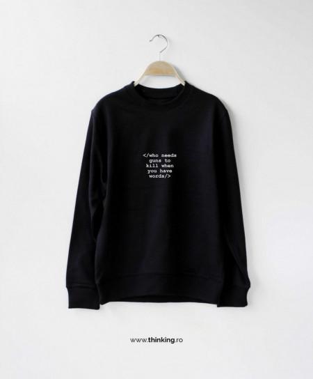 pulover x who needs guns *Lichidari de stoc*