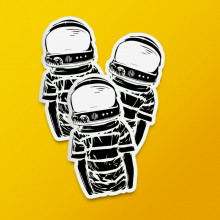 "Pack stickere ""Astronaut"""