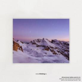 purple sky mountain landscape