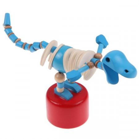 Dinozaurul dansator, Jucarie amuzanta din lemn.