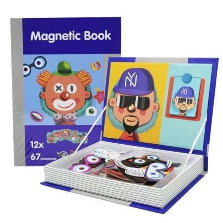 Joc educativ puzzle magnetic Personaje, Magnetic PlayBook, 79 piese.