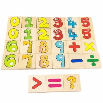 Joc matematic cu betisoare, cifre si litere. Joc educativ Montessori.