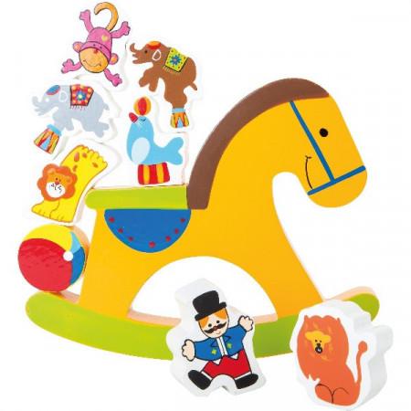 Joc de echilibru Calutul de la Circ, Jucarie Montessorii pentru copii.