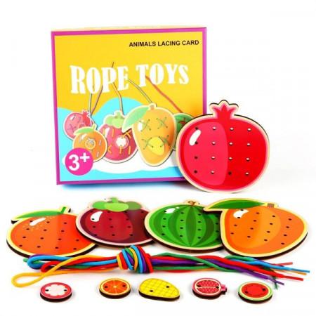 Joc de snuruit Rope Toys, Fructe sau Legume. Joc de indemanare.