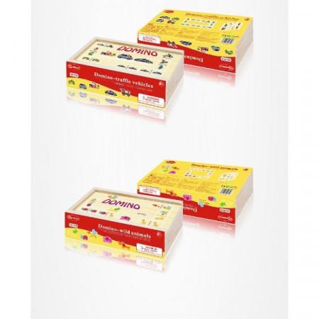 Joc Domino 28 piese. Joc educativ pentru copii.