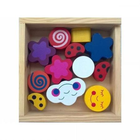 Jucarie din lemn, Cutie sortator forme geometrice.