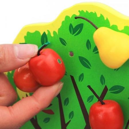 Jucarie educativa, Joyful Orchard Pom cu fructe, Piese cu magnet.