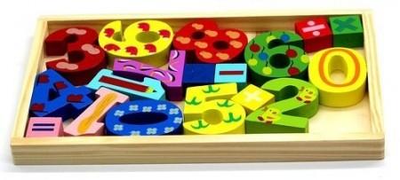 Set cifre, numere din lemn Matematica distractiva