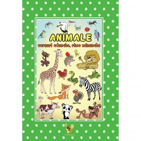 ANIMALE - versuri adunate, rime minunate. Carte cu poezii.