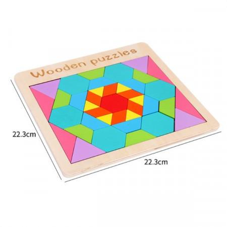 Joc creativ Tangram 39 piese.