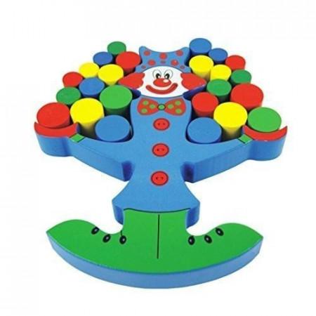 Joc de echilibru Clovnul jongler, Joc din lemn pentru copii.
