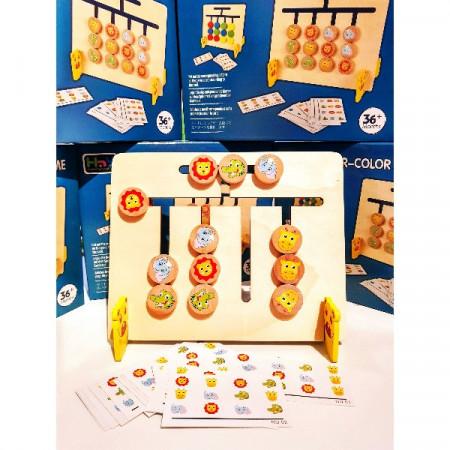 Joc pentru copii de indemanare si logica Sortare culori si animale, 4 Culori. Joc Montessori.
