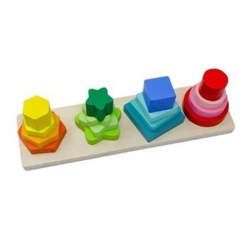Jucarie educativa din lemn Sortator forme geometrice