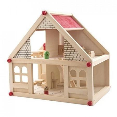 Casuta din lemn cu mobilier si figurine, Joc de rol.