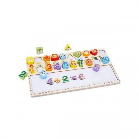 Joc educativ Forme Geometrice si Cifre, 3 in 1, Digital Shape Board. Matematica distractiva.