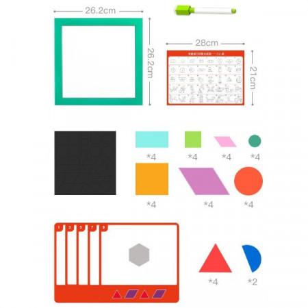 Joc magnetic Tangram, Forme si culori. Joc educativ.