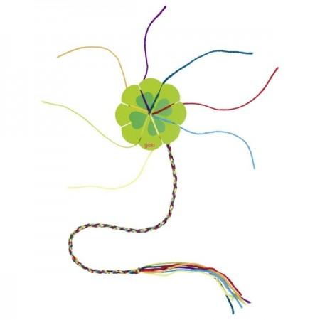 Jucarie creativa pentru copii, Rama pentru impletit bratari, Goki, Floare.Jucarii si Jocuri Montessori din lemn