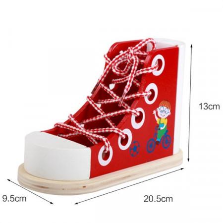 Jucarie de indemanare, Pantof cu siret. Jucarie Montessori.