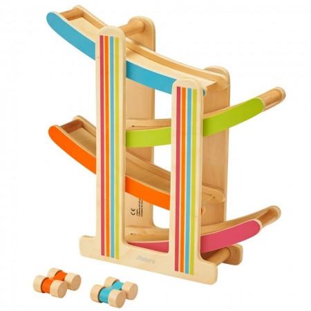 Jucarie din lemn Pista de Raliu, Circuit cu masinute J'adore. Jucarii si Jocuri Montessori din lemn.