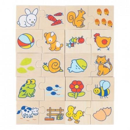 Puzzle JigSaw Asocieri, Din lumea animalelor? Puzzle educativ Onshine.