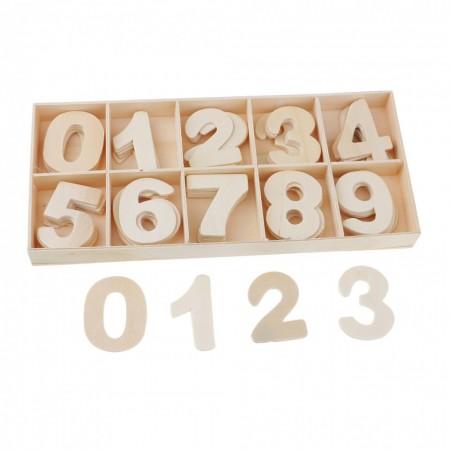 Set cifre blank din lemn