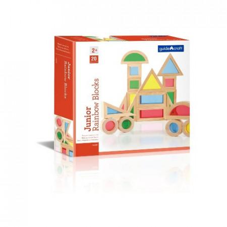 Set Rainbow Blocks GuideCraft 20 piese, Joc Montessori.